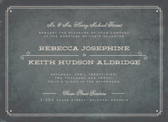 Vintage Slate Wedding Invitation