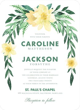 Southern Blooms Invitation