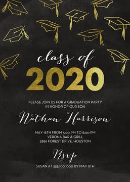 Hats Off Graduation Announcement