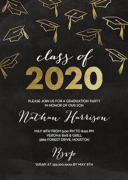 Hats Off Graduation Announcement