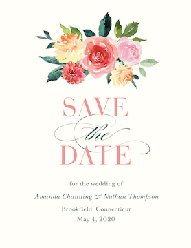 Spring Romance Save the Date