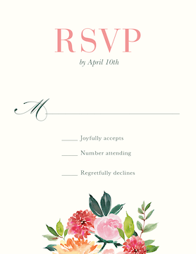 Spring Romance Reply Card