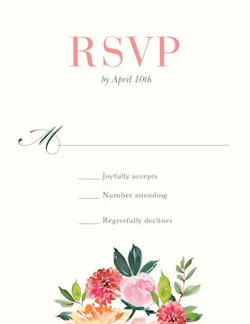 Spring Romance Reply Card
