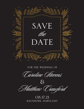 Gilded Garden Foil-Pressed Save the Date