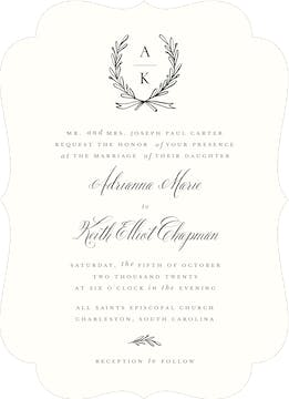 Tied Together Wedding Invitation
