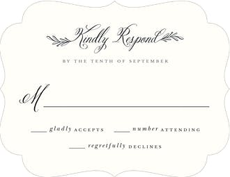 Tied Together Reply Card