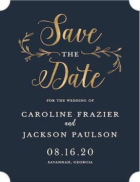 Wedding Day Foil Pressed Save The Date Card