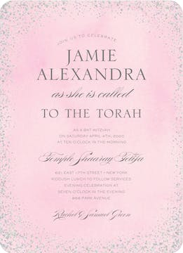 Confetti Pink Foil Pressed Invitation