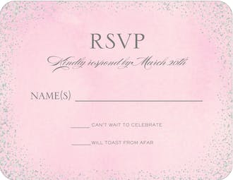 Confetti Pink Foil Pressed Reply Card