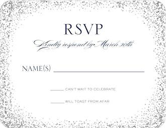Confetti Foil Pressed Reply Card