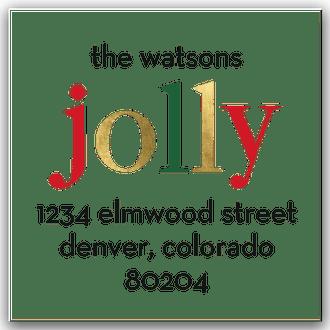 Jolly Dots Round Address Sticky