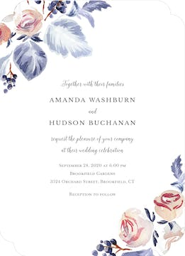 Sonoma Vines Wedding Invitation