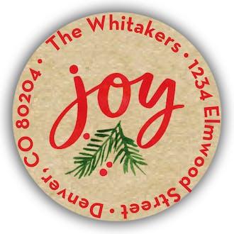 A Joyful Season Round Address Sticky