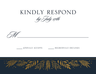Gilded Garden Foil-Pressed Reply Card