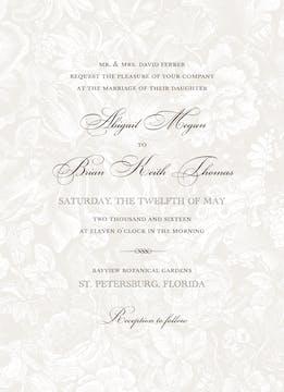 In The Garden Invitation