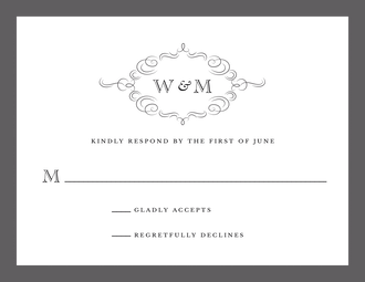 Sophisticated Flourish Response Card