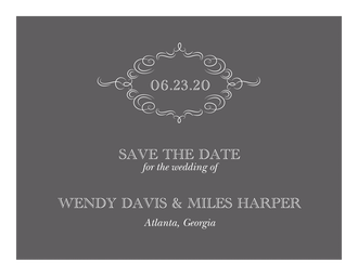 Sophisticated Flourish Save The Date Card