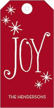 Classic Joy Hanging Gift Tag