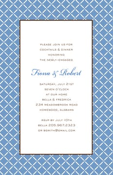 Trellis - Blue Invitation