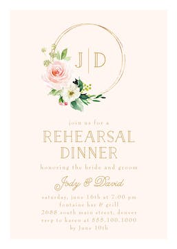 Ringed Monogram Invitation