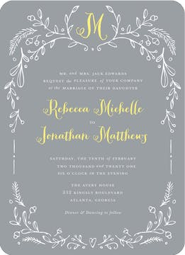 Woodland Border Wedding Invitation