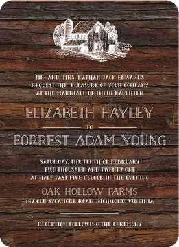 Barn Wood Invitation
