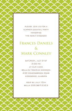 Mermaid - Green Invitation