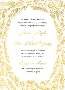 Ring Of Love Foil Pressed Invitation