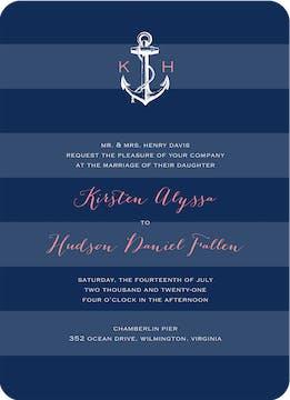 Anchored In Love Wedding Invitation