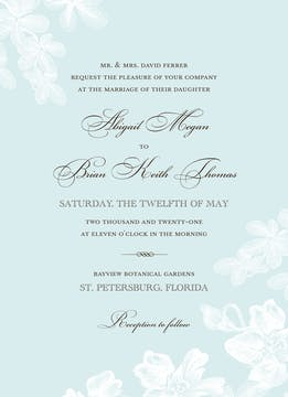 Tropical Garden Invitation