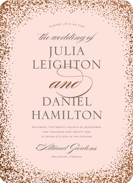 Confetti Sparkle Foil Pressed Invitation