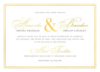 Classic Shine Foil Pressed Invitation