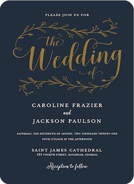 Wedding Day Foil Pressed Invitation