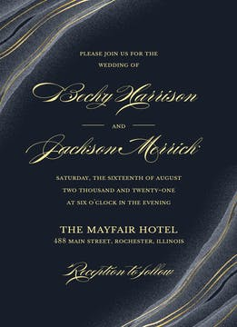 Striated Geode Invitation