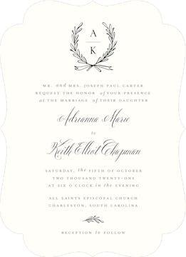 Tied Together Wedding Invitation