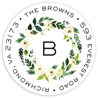 Petite Jardin Return Address Sticker