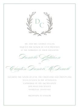 Provincial Garland Wedding Invitation