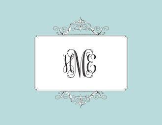 Elegant Affair Folded Note