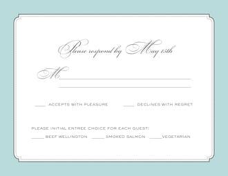 Elegant Affair Response Card
