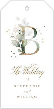Ethereal Initial Hanging Gift Tag
