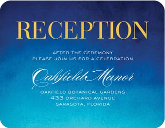 Watercolor Shine Foil Pressed Reception Card