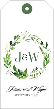 Painted Foliage Hanging Gift Tag