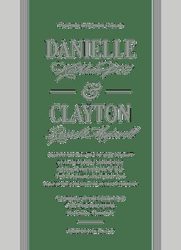 Classic Pinstripes Invitation