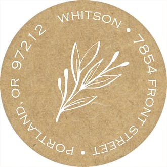 Sweet Sprigs Round Address Sticky