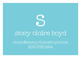 Chevron Stripe - Green Flat Enclosure Card