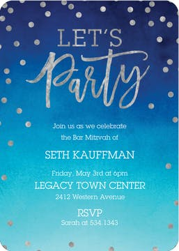 Let's Party Foil Pressed Invitation