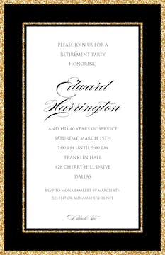 Sparkle Border Invitation