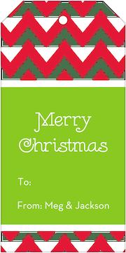 Chevron Holiday Gift Tag