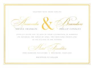 Classic Shine Foil Pressed Invitation