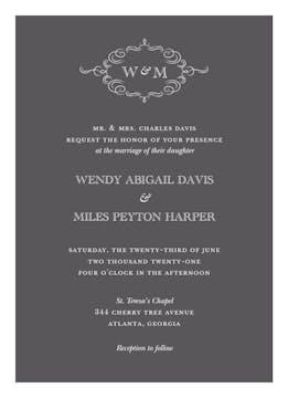 Sophisticated Flourish Invitation